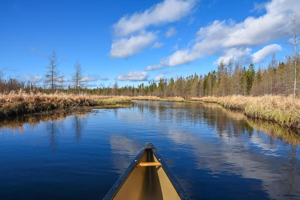 ADK Water with canoe