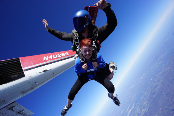 Skydiving Leap for Autism